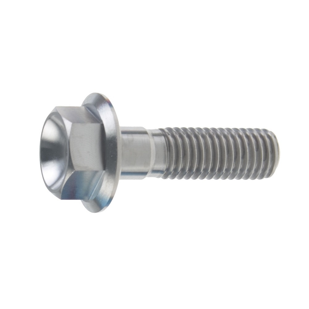 M8X35MM 1.25 THREAD PITCH TITANIUM FLANGE 13MM HEX BOLT GRADE 5